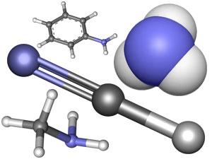 модели молекул, азотсодержащие соединения