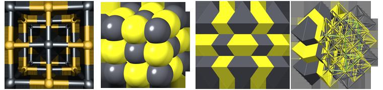 galena crystal structure, кристаллическая структура галенита, галенит, galena