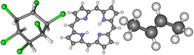 модели молекул, углеводороды