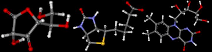 модели молекул витаминов