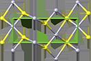 Cinnabar crystal structure, кристаллическая структура киновари