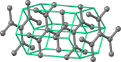 Graphite crystal structure