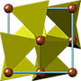 Pyrite crystal structure, кристаллическая структура пирита