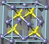 Sphalerite crystal structure, кристаллическая структура сфалерита